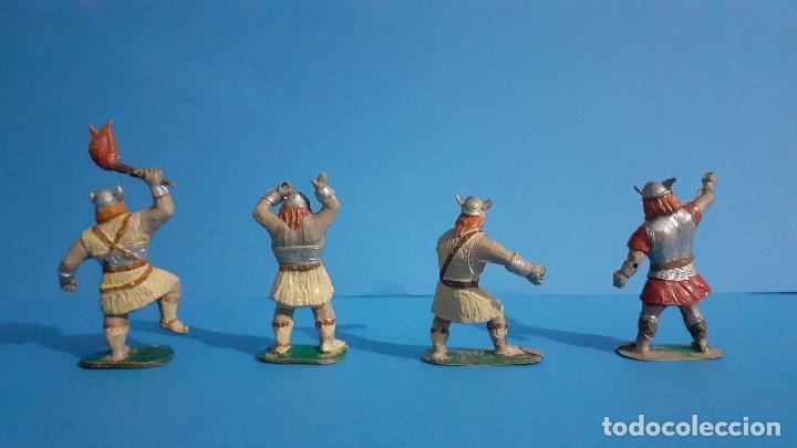 Figuras de Goma y PVC: Lote de 4 vikingos Jim. Estereoplast. - Foto 4 - 235832960