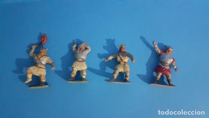 Figuras de Goma y PVC: Lote de 4 vikingos Jim. Estereoplast. - Foto 7 - 235832960