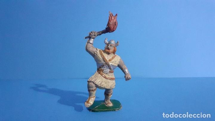 Figuras de Goma y PVC: Lote de 4 vikingos Jim. Estereoplast. - Foto 9 - 235832960