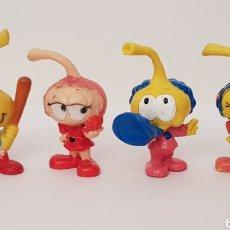 Figuras de Borracha e PVC: LOS SNORKELS - LOTE 4 MUÑECOS GOMA / PVC. Lote 235983775