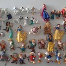 Figuras de Borracha e PVC: LOTE 54 FIGURAS GOMA PVC BULLY BULLYLAND WALT DISNEY PATO DONALD PRINCESA GARFIO CAMPANILLA ENANITOS. Lote 236020345