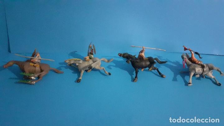 Figuras de Goma y PVC: Lote de 4 figuras Vikingos. Estereoplast. Gundar , Olaff , goodfrei y Ragnad completos - Foto 4 - 236053015