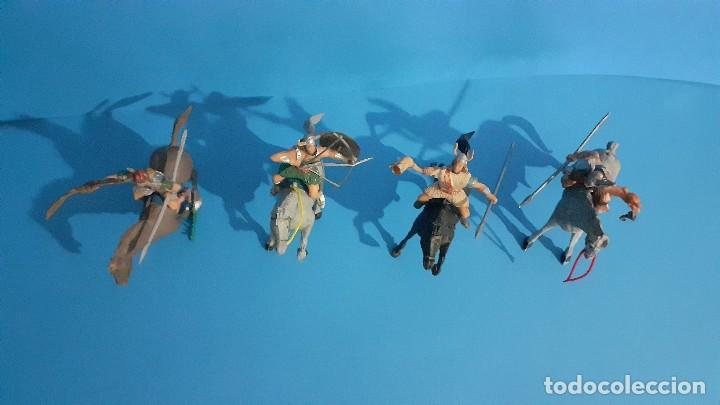 Figuras de Goma y PVC: Lote de 4 figuras Vikingos. Estereoplast. Gundar , Olaff , goodfrei y Ragnad completos - Foto 6 - 236053015