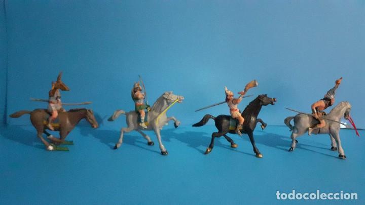 Figuras de Goma y PVC: Lote de 4 figuras Vikingos. Estereoplast. Gundar , Olaff , goodfrei y Ragnad completos - Foto 8 - 236053015