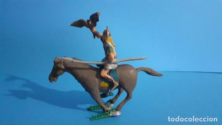 Figuras de Goma y PVC: Lote de 4 figuras Vikingos. Estereoplast. Gundar , Olaff , goodfrei y Ragnad completos - Foto 11 - 236053015