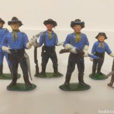 Figuras de Goma y PVC: JECSAN RIN TIN TIN Y YANQUIS. SERIE COMPLETA. Lote 236053700
