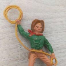 Figuras de Goma y PVC: COMANSI VAQUERO CON LAZO. Lote 236056445