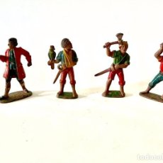 Figuras de Goma y PVC: LOTE DE 4 FIGURAS SERIE PIRATAS DE GOMA - REAMSA. Lote 236128500