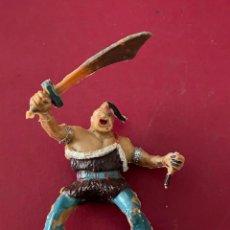 Figuras de Goma y PVC: FIGURA DE PLASTICO - COSACO VERDE (KARAKAN) ESTEREOPLAST. Lote 236140145