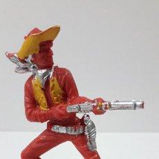 Figuras de Goma y PVC: VAQUERO - COWBOY CON RIFLE . ORIGINAL AÑOS 60 . ALTURA 8,2 CM. Lote 236180355