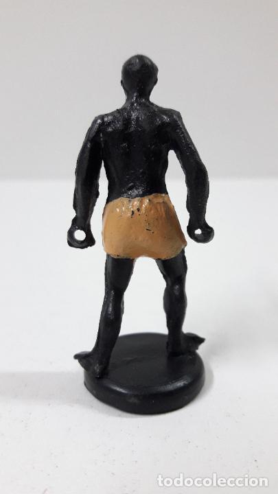 Figuras de Goma y PVC: PORTEADOR AFRICANO . REALIZADO POR GAMA . SERIE LAS MINAS DEL REY SALOMON . ORIGINAL AÑOS 50 EN GOMA - Foto 2 - 236181755