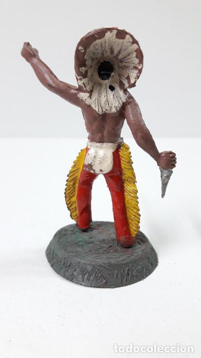 Figuras de Goma y PVC: GUERRERO INDIO CON BASE . REALIZADO POR ALCA - CAPELL . ORIGINAL AÑOS 50 EN GOMA - Foto 2 - 236185580
