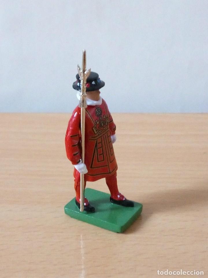 Figuras de Goma y PVC: FIGURA METALICA DE 7 CMTRS BRITAINS 1990.NUEVA - Foto 3 - 236200090