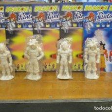 Figuras de Goma y PVC: LOTE 4 FIGURAS CON FASCICULOS DRAGON BALL GT - BOLA DE DRAGON PARA PINTAR - SON GOKU VEGETA. Lote 236206760