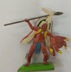 Figuras de Goma y PVC: FIGURA INDIO DEETAIL BRITAINS LTD 1971. Lote 236244310