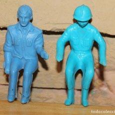 Figuras de Goma y PVC: LOTE DE 2 ANTIGUAS FIGURAS PLASTICO - POLICIA MOTORISTA, PASAJERO, CONDUCTOR.... Lote 236295280