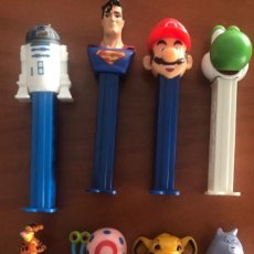 Dispensador Pez: PEZ DISPENSADORES LOTE VARIADO STAR WARS SUPER MARIO ETC.... Lote 236656085
