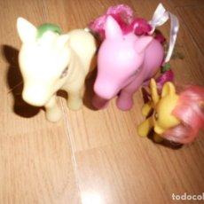 Figuras de Goma y PVC: LOTE 3 MY LITLLE PONY, PEGASO CON MARIPOSA - ESTRELLA - MUEVEN LA CABEZA. DISPONGO DE MAS JUGUETES. Lote 236875610