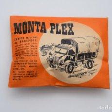 Figuras de Goma y PVC: SOBRE MONTAPLEX CAMIÓN MILITAR DE TRANSPORTE - SOBRE NARANJA CERRADO - AÑO 1967. Lote 236886340