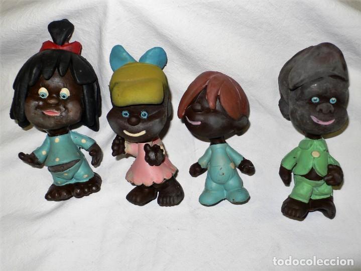 LOTE ANTIGUOS MUÑECOS DE GOMA (Juguetes - Figuras de Goma y Pvc - Otras)