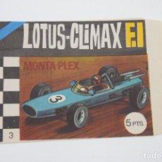 Figuras de Goma y PVC: MONTAPLEX SOBRE VACÍO LOTUS-CLIMAX F.1 - COLECCIÓN DE MODELOS A ESCALA - AÑOS 70. Lote 236901135