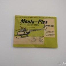 Figuras de Goma y PVC: MONTAPLEX HELICÓPTERO FURIA - AÑO 1967 - SOBRE CERRADO. Lote 236906190
