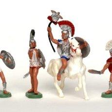 Figuras de Goma y PVC: COLECCIÓN COMPLETA DE TROYANOS DE HERALD BRITAINS, EN PLÁSTICO, CIRCA 1970.. Lote 237106995