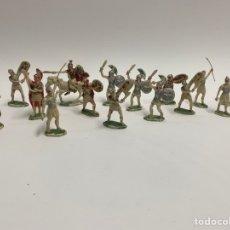 Figuras de Goma y PVC: LOTE DE 16 FIGURAS DE PLASTICO EJERCITO ROMANO. AÑOS 60. 9. Lote 237150040