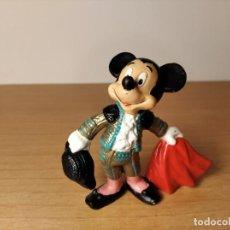 Figuras de Goma y PVC: MICKEY MOUSE TORERO. DISNEY-BULLYLAND. MADE IN GERMANY. TAMAÑO: 75 MM.. Lote 237375580