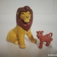 Figuras de Goma y PVC: 2 FIGURAS DE EL REY LEON DISNEY. BULLYLAND. Lote 237391035