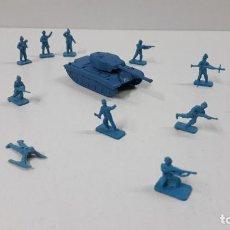 Figuras de Goma y PVC: LOTE DE SOLDADITOS MONTAPLEX - ALEMANES Y TANQUE . AÑOS 70 / 80. Lote 237459180