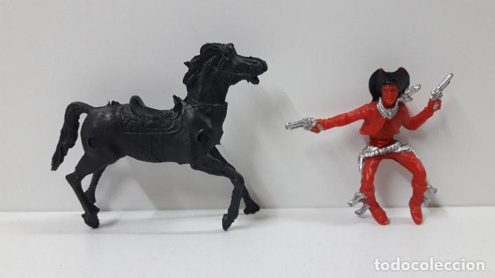 Figuras de Goma y PVC: VAQUERO - COWBOY A CABALLO . REALIZADO POR LAFREDO / REIGON . ORIGINAL AÑOS 60 - Foto 5 - 237472280
