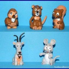Figuras de Borracha e PVC: TAOTAO PANDA DIBUJOS LOTE 5 FIGURAS PVC YOLANDA TAO TAO ANIME. Lote 237534975