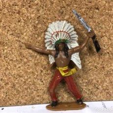 Figuras de Goma y PVC: FIGURA JEFE INDIO VAQUERO COWBOY COMANSI OESTE WESTERN NO PECH REAMSA JECSAN LADREDO COMANSI. Lote 237599190
