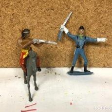Figuras de Goma y PVC: SOLDADO JEFE INDIO VAQUERO COWBOY COMANSI OESTE WESTERN NO PECH REAMSA JECSAN LADREDO COMANSI. Lote 237599205