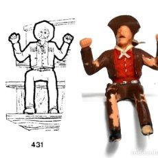 Figurines en Caoutchouc et PVC: CONDUCTOR DEL ASALTO A LA DILIGENCIA, DE PLÁSTICO, MARCA REAMSA, Nº 431 DEL CATÁLOGO. 1970'S. Lote 237713940