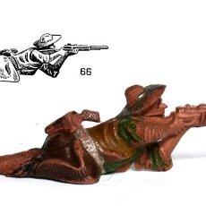 Figurines en Caoutchouc et PVC: COWBOY DE GOMA DE LA MARCA REAMSA, CIRCA 1950, Nº 66 DEL CATÁLOGO.. Lote 237715445