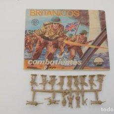 Figuras de Goma y PVC: MONTAPLEX BRITÁNICOS SOBRE Nº 104 VACÍO + 1 COLADA DE SOLDADOS INGLESES. Lote 237720250