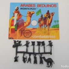 Figuras de Goma y PVC: MONTAPLEX ARABES BEDUINOS SOBRE Nº 102 - OJO LETRA COMBATIENTES EN COLOR BLANCO + COLADA. Lote 237728125