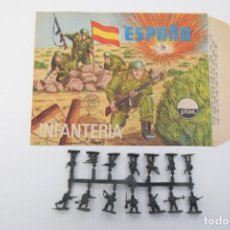 Figurines en Caoutchouc et PVC: MONTAPLEX SOBRE ESPAÑA INFANTERIA Nº 105 + COLADA SOLDADOS ESPAÑOLES. Lote 237838245