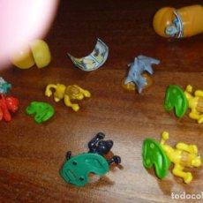 Figuras Kinder: LOTE ANIMALES KINDER TIBURON MARTILLO LEON LEOPARDO GATO GUSANO. Lote 238048800