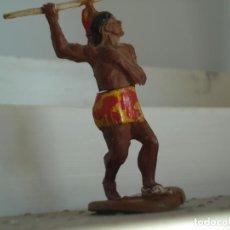 Figuras de Borracha e PVC: FIGURA DE UN INDIO DE GAMA. Lote 238076060