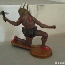 Figuras de Borracha e PVC: FIGURA DE UN INDIO DE GAMA. Lote 238076240
