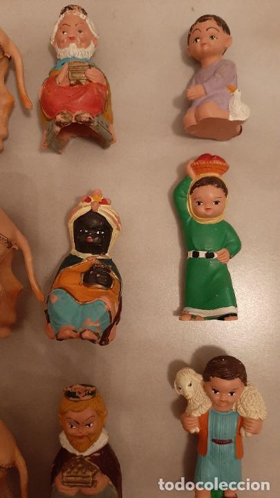 Figuras de Goma y PVC: LOTE FIGURAS DE BELEN CABEZONES FERRANDIZ PECH REYES MAGOS CAMELLOS PASTORES LABORES PVC GOMA AÑOS70 - Foto 3 - 238136335