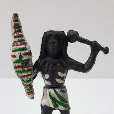 Figuras de Goma y PVC: GUERRERO NEGRO AFICANO . REALIZADO POR GAMA . AÑOS 50 EN GOMA. Lote 238224140