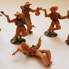 Figuras de Goma y PVC: 7 VAQUEROS DE LAFREDO DE PEQUEÑO TAMAÑO. Lote 238251745