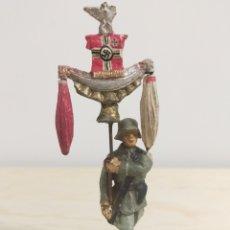 Figuras de Goma y PVC: ELASTOLIN FIGURA DE MASA. ESTANDARTE WW2. Lote 238334035