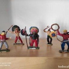 Figuras de Goma y PVC: LOTE DE FIGURAS COMANSI PRIMERA ÉPOCA OESTE VAQUEROS INDIOS FART WEST. Lote 238406045