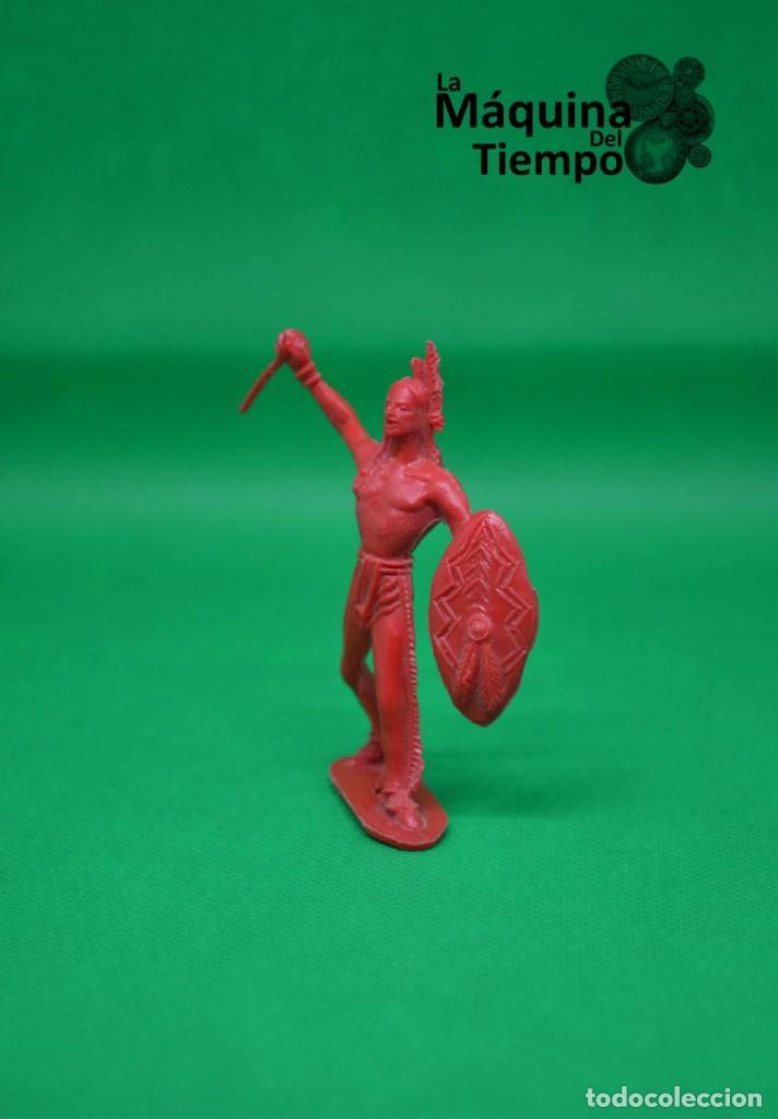 Figuras de Goma y PVC: Figura de indio de Comansi 2ª época. Años 70. Far West (Oeste). Indios y Cowboys (vaqueros) - Foto 4 - 238488460