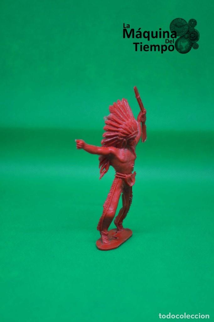 Figuras de Goma y PVC: Figura de indio de Comansi 2ª época. Años 70. Far West (Oeste). Indios y Cowboys (vaqueros) - Foto 2 - 238490205